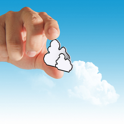 Hand with cloud.